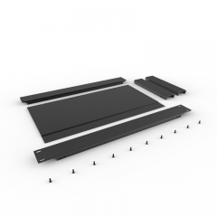 PD001-1U 200 mm cheap rack mount server electronic modular enclosure equipment case aluminium enclosures for electronics